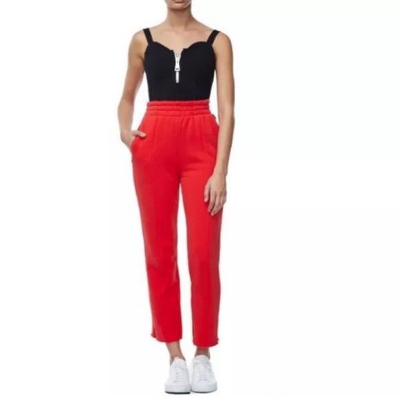 Good American Pants - Good American Red High Waist Sweatpants XL